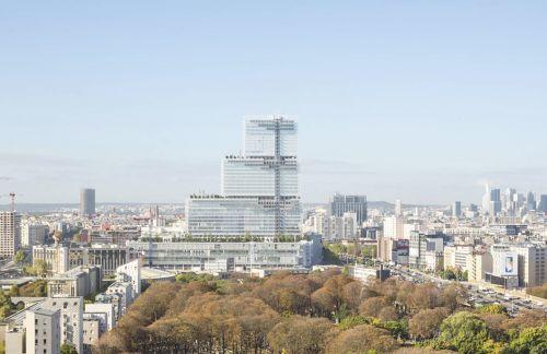 Le Nouveau Palais de Justice de Paris, près de l'hôtel jardin de Villiers