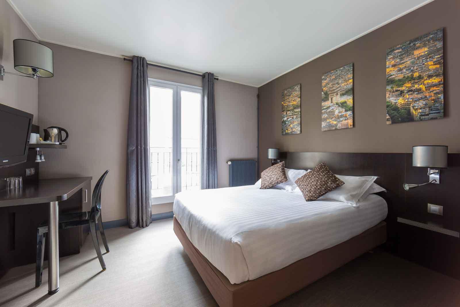Chambre double hotel jardin de villiers paris 17 - Hotel paris chambre 5 personnes ...
