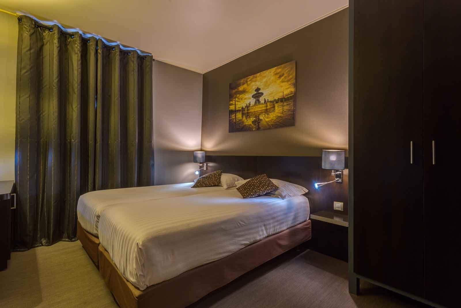 Habitaci n individual con 2 camas hotel jardin de villiers - Decoracion habitacion individual ...